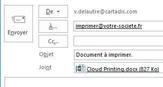 Gespage Cloud Printing email