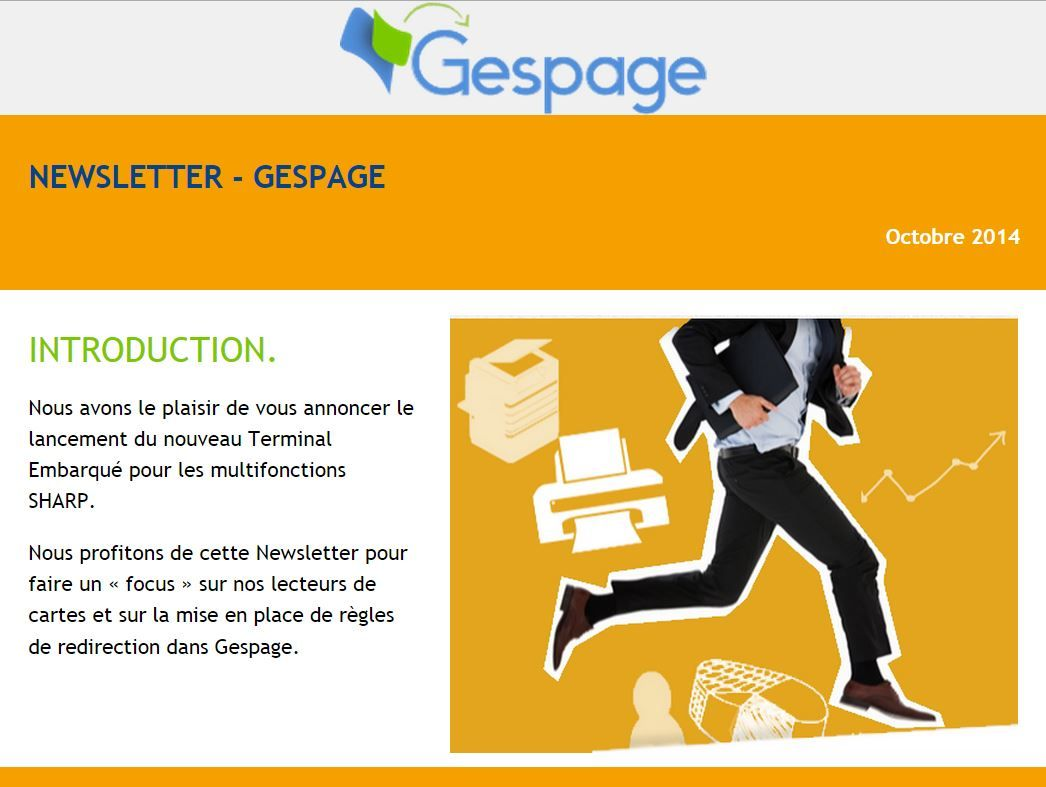 Newsletter Gespage Octobre 2014