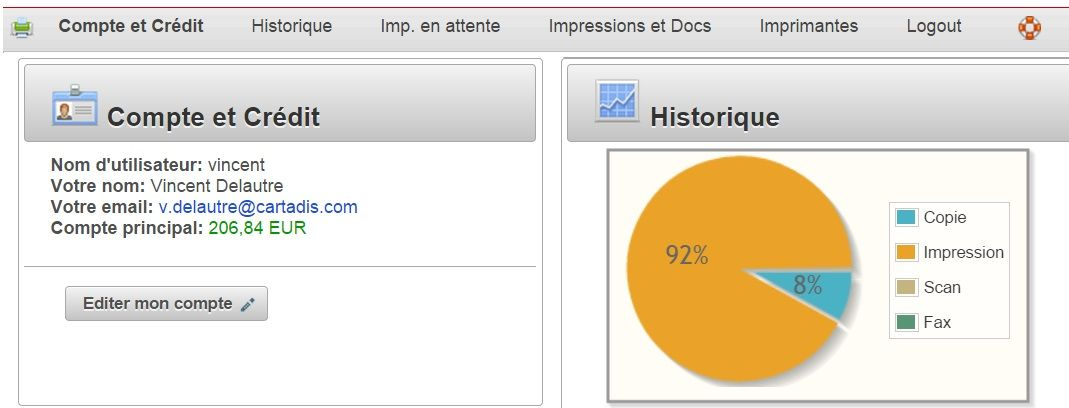interface utilisateur gespage création de compte