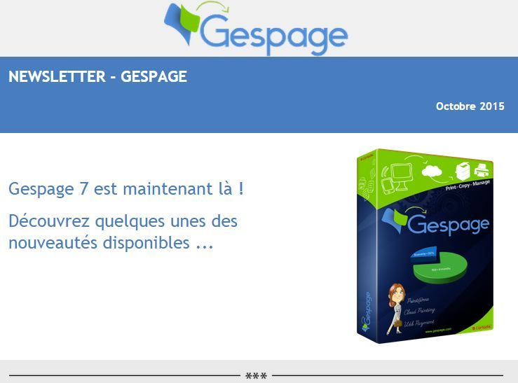 Newsletter Gespage Octobre 2015