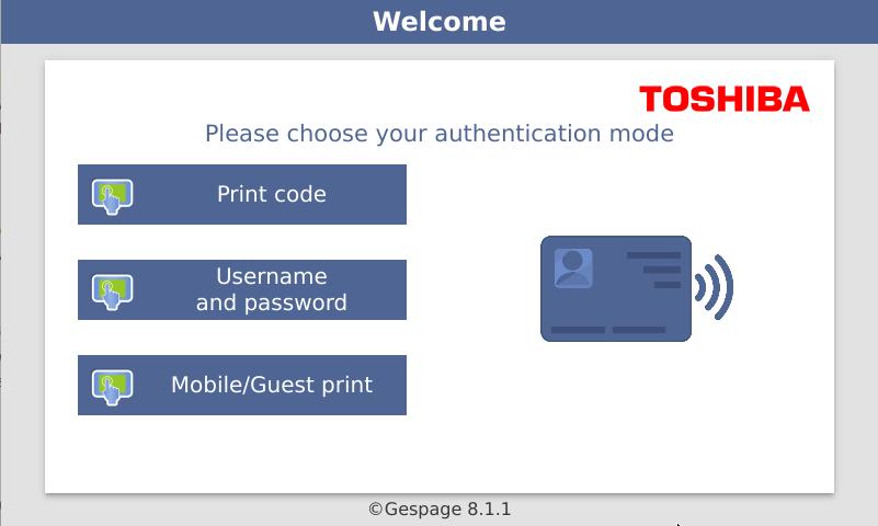 Embedded terminal Toshiba