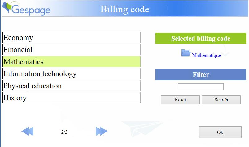 billingCode