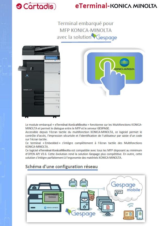 Embedded Terminal For Mfp Konica Minolta Print Management Software